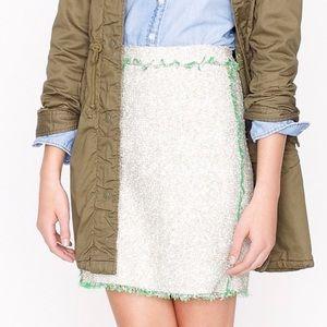 J Crew Jackie Kennedy Glimmer Linkin tweed skirt